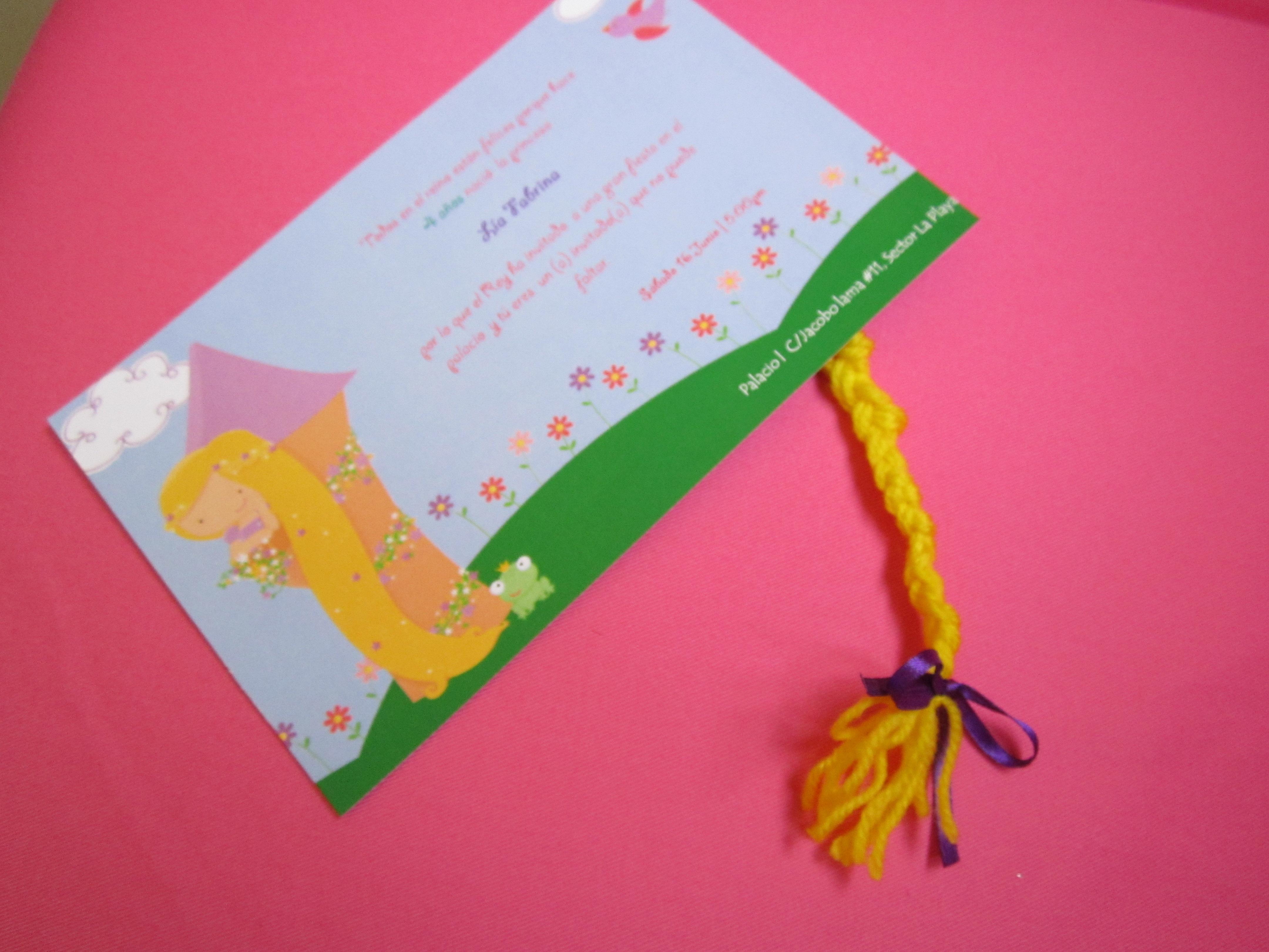 Rapunzel tarjeta | Cumpleaños | Nana Deco ideas | interiores | eventos